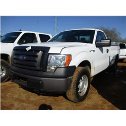 2011 FORD F150 XL PICK UP, VIN/SN:1FTMF1EMXBKE19112 - 4X4, GAS ENGINE, A/T, TOOL BOXES, LAG BAR, ODO