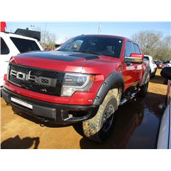 2014 FORD RAPTOR PICKUP, VIN/SN:1FTFW1E64EFC42063 - 4X4, CREW CAB, 602L V8 GAS ENGINE, A/T, COVERED