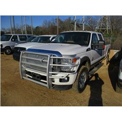 2012 FORD F250 PICK UP, VIN/SN:1F7TW2BT0CEA68774 - 4X4, CREW CAB, FORD POWER STROKE DIESEL ENGINE, A