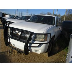 2007 CHEVROLET SUBURBAN VIN/SN:3GNGK26K37G296108 - 4X4, V8 GAS ENGINE, A/T, ODOMETER READING 164,905