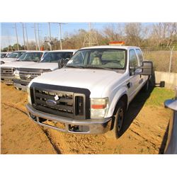 2008 FORD F250 PICKUP, VIN/SN:1FTSW20528EE33137 - CREW CAB, V8 GAS ENGINE, A/T, ODOMETER READING 143