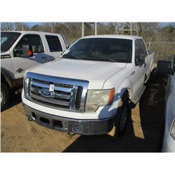 2010 FORD F150 PICKUP, VIN/SN:1FTFX1EV1AKB70227 - 4X4, EXTENDED CAB, V8 GAS ENGINE, A/T, ODOMETER RE