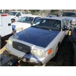 2008 FORD CROWN VICTORIA, VIN/SN:2FAHP71V78X159604 - V8 GAS ENGINE, A/T (STATE OWNED)
