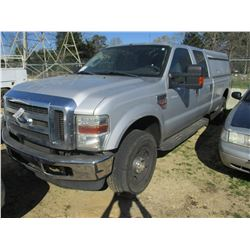 2008 FORD D350XLT PICK UP, VIN/SN:1FTWW31R98EE02993 - 4X4, CREW CAB, POWERSTROKE DIESEL ENGINE, A/T,