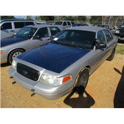 2007 FORD CROWN VICTORIA VIN/SN:2FAHP71W17X145012 - V8 GAS ENGINE, A/T, ODOMETER READING 242,875 MIL