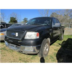 2004 FORD F150 PICKUP, VIN/SN:1FTPX14544NC30784 - 4X4, EXT CAB, V8 GAS ENGINE, A/T, BED COVER (STATE
