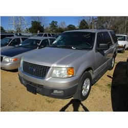 2006 FORD EXPEDITION VIN/SN:1FMPU15586LA67204 - V8 GAS ENGINE, A/T, ODOMETER READING 185,166 MILES (