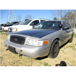 2008 FORD CROWN VICTORIA VIN/SN:2FAHP71V98X159569 - V8 GAS ENGINE, A/T, (STATE OWNED)