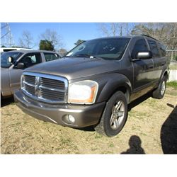 2006 DODGE DURANGO VIN/SN:1D4HB48N86F157479 - V8 GAS ENGINE, A/T (STATE OWNED)
