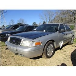 2009 FORD CROWN VICTORIA VIN/SN:2FAHP71V39X100664 - V8 GAS ENGINE, A/T (STATE OWNED)
