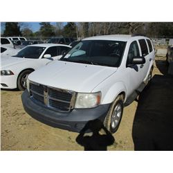 2007 DODGE DURANGO VIN/SN:1D8HD38P97F569528 - V8 GAS ENGINE, A/T (STATE OWNED)