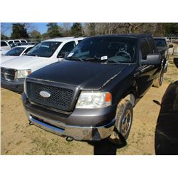 2006 FORD F150 XLT PICKUP, VIN/SN:1FTPX14V16NB52516 - V8 GAS ENGINE, A/T (STATE OWNED)