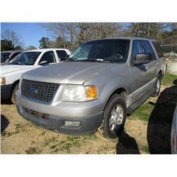 2006 FORD EXPEDITION XLT, VIN/SN:1FMPU15566LA67203 - V8 GAS ENGINE, A/T (STATE OWNED)