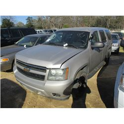 2007 CHEVROLET TAHOE VIN/SN:1GNEC03037R375113 - V8 GAS ENGINE, A/T, ODOMETER READING 236,112 MILES (