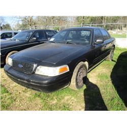 2006 FORD CROWN VICTORIA, VIN/SN:2FAHP71WX6X143547 - V8, GAS ENGINE, A/T (STATE OWNED)