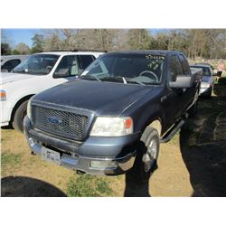 2004 FORD F150 PICK UP TRUCK, VIN/SN:1FTPX14524NC30783 - 4X4, EXTENDED CAB, V8 GAS ENGINE, A/T, ODOM