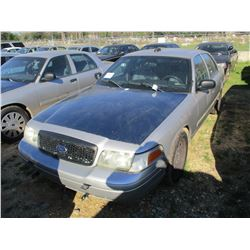 2010 FORD CROWN VICTORIA VIN/SN:2FABP7BV0AX106608 - V8 GAS ENGINE, A/T (STATE OWNED)