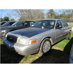 2006 FORD CROWN VICTORIA, VIN/SN:2FAHP71W76X147264 - V8 GAS ENGINE, A/T (STATE OWNED)