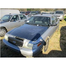 2008 FORD CROWN VICTORIA VIN/SN:2FAHP71V48X159611 - V8 GAS ENGINE, A/T, ODOMETER READING 186,224 MIL