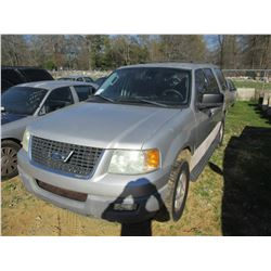 2003 FORD EXPEDITION VIN/SN:1FMPU15L13LC26784 - V8 GAS ENGINE, A/T, ODOMETER READING 214,987 MILES (