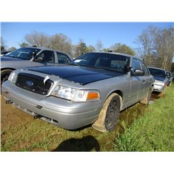 2007 FORD CROWN VICTORIA, VIN/SN:2FAHP71W77X144981 - V8 GAS ENGINE, A/T, ODOMETER READING 234,002 MI