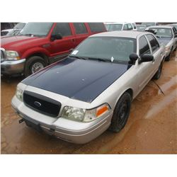 2009 FORD CROWN VICTORIA, VIN/SN:2FAHP71V49X143362 - V8 GAS ENGINE, A/T (DOES NOT OPERATE) (STATE OW