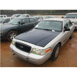 2004 FORD CROWN VICTORIA VIN/SN:2FAHP71W54X160625 - V8 GAS ENGINE, A/T (DOES NOT OPERATE) (STATE OWN