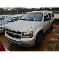 2007 CHEVROLET TAHOE VIN/SN:1GNEC03027R398575 - V8 GAS ENGINE, A/T (DOES NOT OPERATE) (STATE OWNED)