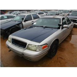 2006 FORD CROWN VICTORIA VIN/SN:2FAHP71W96X147248 - V8 GAS ENGINE, A/T (DOES NOT OPERATE) (STATE OWN