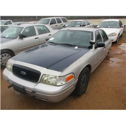 2006 FORD CROWN VICTORIA VIN/SN:2FAHP71W06X147235 - V8 GAS ENGINE, A/T (DOES NOT OPERATE) (STATE OWN
