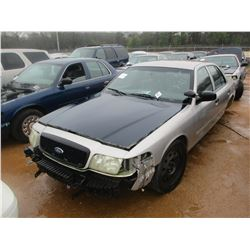 2009 FORD POLICE INTERCEPTOR, VIN/SN:2FAHP71V89X143381 - V-8 ENGINE, A/T (DOES NOT RUN) (STATE OWNED