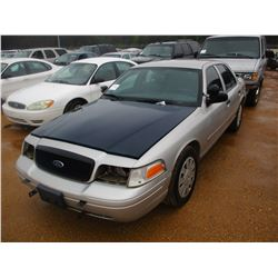 2008 FORD CROWN VICTORIA VIN/SN:2FAHP71V18X15965 - V8 GAS ENGINE, A/T (DOES NOT OPERATE) (STATE OWNE