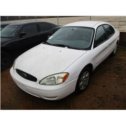 2005 FORD TAURUS SE VIN/SN:1FAFP53U05A309296 - V6 ENGINE, A/T (DOES NOT RUN) ( STATE OWNED)