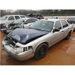 2008 FORD POLICE INTERCEPTOR, VIN/SN:2FAHP71V18X159615 - V8 ENGINE, A/T (DOES NOT RUN) (STATE OWNED)