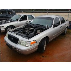 2009 FORD POLICE INTERCEPTOR, VIN/SN:2FAHP71V79X143369 V8 ENGINE, A/T (DOES NOT RUN) (STATE OWNED)