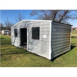 PORTABLE METAL BUILDING, APPROX 18X10 (STATED OWNED) (**SELLING OFFSITE -- LOCATED AT ALEA FACILITY-