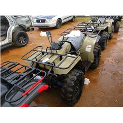 YAMAHA BIG BEAR 350 4 WHEELER, VIN/SN:JY44WUW09WA051416 4X4 (DOES NOT OPERATE) (STATE OWNED)