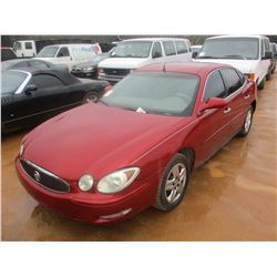 2005 BUICK LACROSSE, VIN/SN:2G4WC532851356540 - GAS ENGINE, A/T