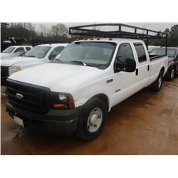 2006 FORD F350 PICK UP, VIN/SN:1FTWW30P16ED87368 - CREW CAB, POWER STROKE DIESEL ENGINE, A/T, LADDER
