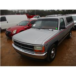 1994 DODGE DAKOTA SLT PICKUP, VIN/SN:1B7FL26X4RS507860 COVERED BED, GAS ENG, A/T, ODOMETER READING 5