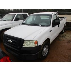 2008 FORD F150 VIN/SN:1FTRF12W18KC52689 - EXTENDED CAB, V6 GAS ENGINE, A/T, ODOMETER READING 250,510