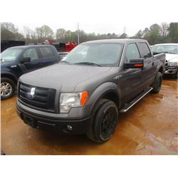 2010 FORD F150 PICKUP, VIN/SN:1FTFWIEV8AFA75451 - 4X4, CREW CAB, V8 GAS ENGINE, ODOMETER READING 126