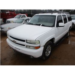 2004 CHEVROLET Z71 SUBURBAN, VIN/SN:3GNFK16T14G192520 - 4X4, GAS, A/T, MOONROOF, LEATHER, ODMETER RE