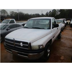 2001 DODGE RAM 2500 PICKUP, VIN/SN:3B7KC26651M268287 - CUMMINS DIESEL ENGINE, A/T, ODOMETER READING