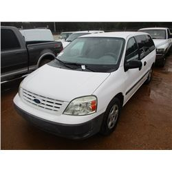 2006 FORD FREESTAR VAN, VIN/SN:2FTZA54646BA19349 - GAS ENGINE, A/T, ODOMETER READING 34,276 MILES