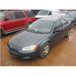 2003 DODGE STRATUS VIN/SN:1B3EL36XX3N573385 -GAS ENGINE, A/T, ODOMETER READING 156,769 MILES