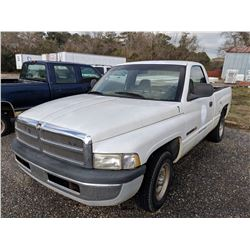 1999 DODGE 1500 PICK UP, VIN/SN:1B7HC16Y3X5213990 - V8 GAS ENGINE, A/T (SELLING ABSENTEE) (LOCATED I