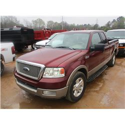 2004 FORD F150 PICKUP, VIN/SN:1FTPX12534NA54376 - EXTENDED CAB, GAS ENGINE, A/T, ODOMETER READING 21