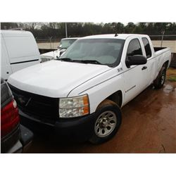 2008 CHEVROLET SILVERADO PICKUP, VIN/SN:2GCEC19C581199451 - EXTENDED CAB, V8 GAS ENGINE, A/T