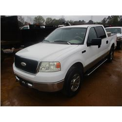 2007 FORD F150 PICK UP, VIN/SN:1FTPW14V37KA94401 - 4X4, CREW CAB, V8 GAS ENGINE, A/T, TOOL BOX, ODOM